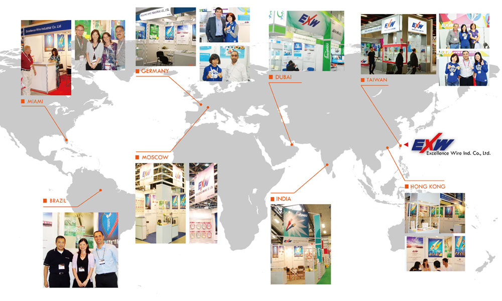 Since 1985, EXW has participated in many global exhibitions.